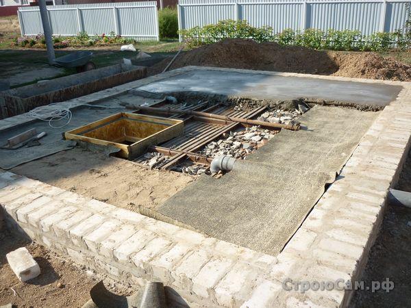 Перекрытие погреба. Заливаем бетон