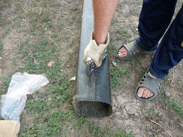 Перекрытие погреба. Балки перекрытия
