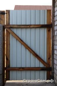 Калитка из профиля дачные сварные ворота ступино