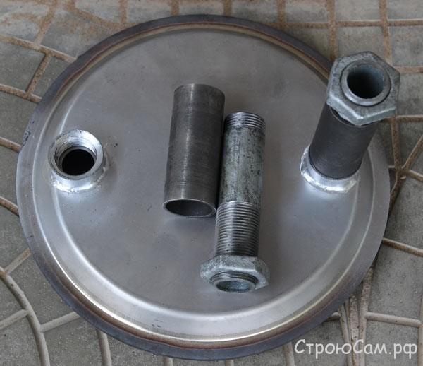 Теплообменник из нержавеющий стали для нагрева воды в выносном баке
