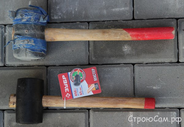 Резиновый молоток для укладки брусчтаки